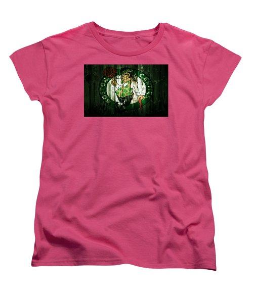 The Boston Celtics 5d Women's T-Shirt (Standard Cut) by Brian Reaves
