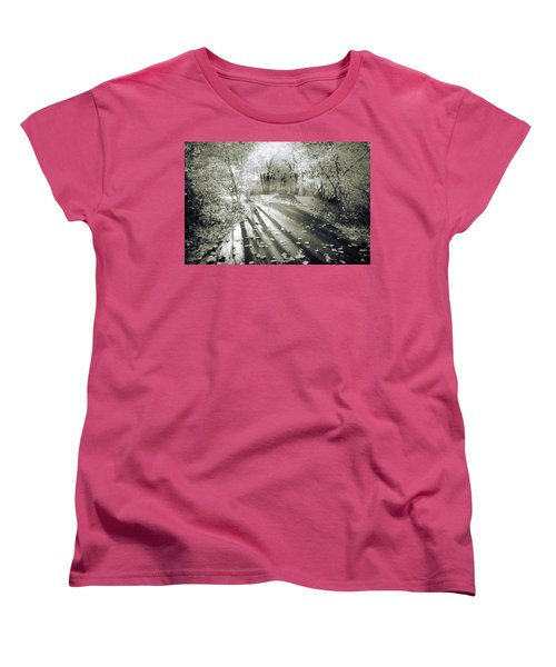 Women's T-Shirt (Standard Cut) featuring the photograph The Calm In Shadows And Light by Tara Turner