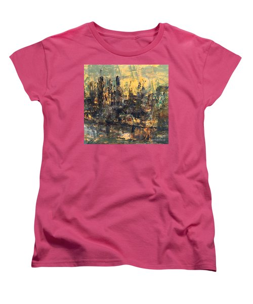 The City Women's T-Shirt (Standard Cut) by Nancy Kane Chapman