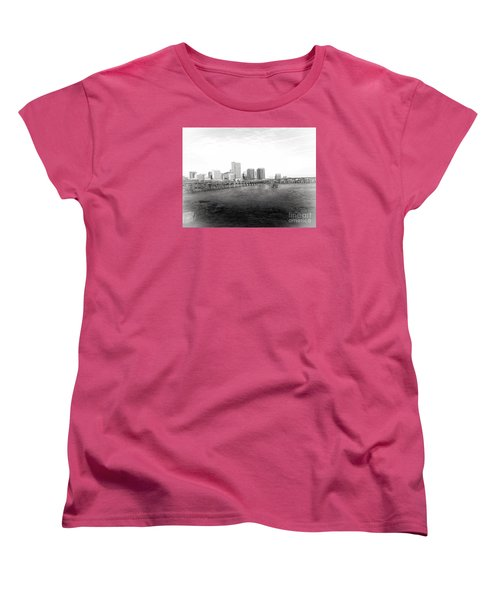 The City Of Richmond Black And White Women's T-Shirt (Standard Cut) by Melissa Messick