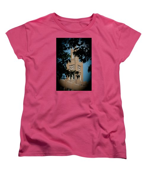 Women's T-Shirt (Standard Cut) featuring the photograph The Clock Tower by Mark Dodd