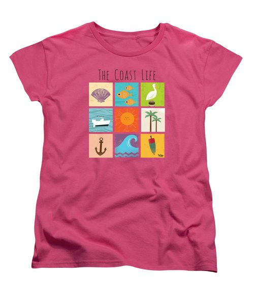 The Coast Life Women's T-Shirt (Standard Cut) by Kevin Putman