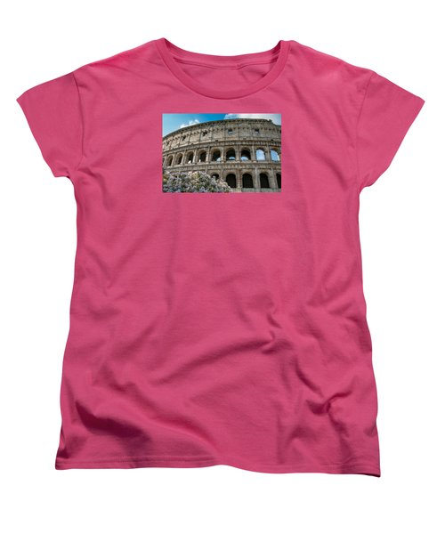 Women's T-Shirt (Standard Cut) featuring the photograph The Coliseum In Rome by Kathleen Scanlan