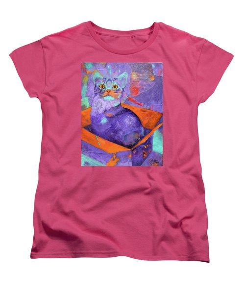 The Color Purrrple Women's T-Shirt (Standard Cut) by Nancy Jolley