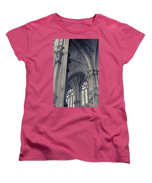 The Columns Of Saint-eustache, Paris, France. Women's T-Shirt (Standard Cut) by Richard Goodrich