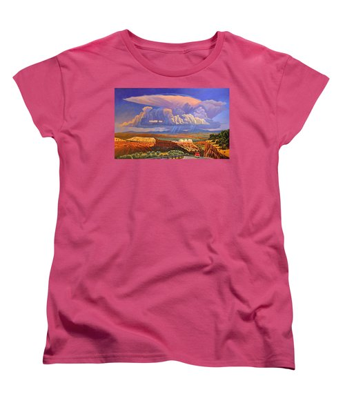 Women's T-Shirt (Standard Cut) featuring the painting The Commute by Art West