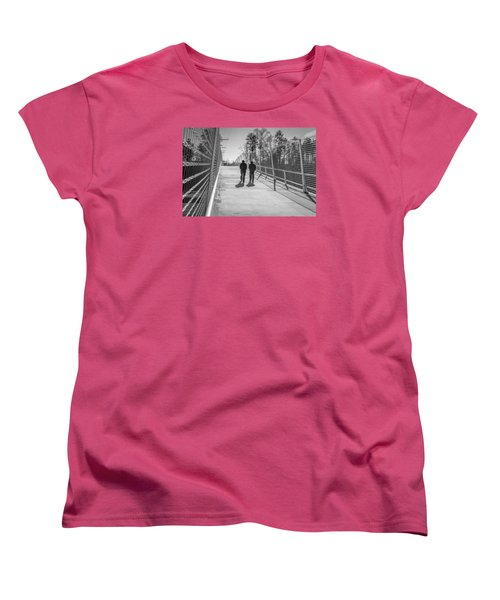 Women's T-Shirt (Standard Cut) featuring the photograph The Conversation by Wade Brooks
