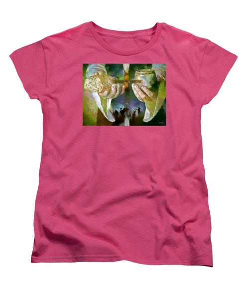 The Cross And The Feast Women's T-Shirt (Standard Cut)
