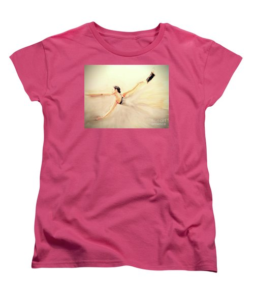 Women's T-Shirt (Standard Cut) featuring the painting The Dance Of Life by FeatherStone Studio Julie A Miller