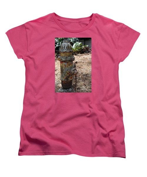 The Doggy Did It Women's T-Shirt (Standard Cut) by Irma BACKELANT GALLERIES
