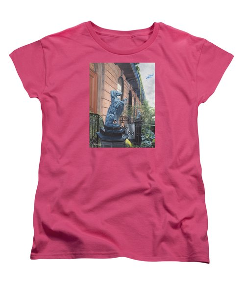 The Dogs On West Tenth Street, New York, Ny  Women's T-Shirt (Standard Cut) by Barbara Barber