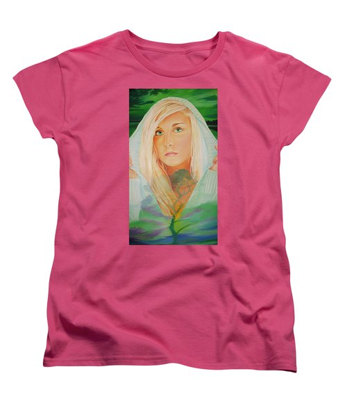 Women's T-Shirt (Standard Cut) featuring the painting The Dreaming Tree by Joshua Morton