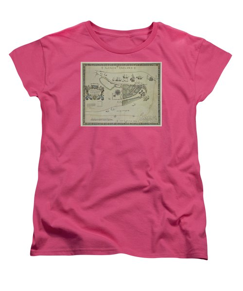 Women's T-Shirt (Standard Cut) featuring the photograph The Dukes Plan A Description Of The Town Of Mannados Or New Amsterdam 1664 by Duncan Pearson