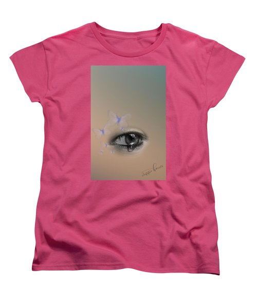 The Eyes Don't Lie Women's T-Shirt (Standard Cut) by Vennie Kocsis