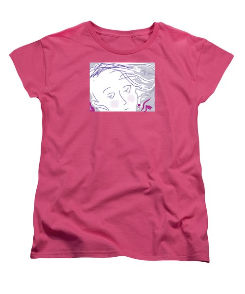 The Face Women's T-Shirt (Standard Cut) by Mary Armstrong