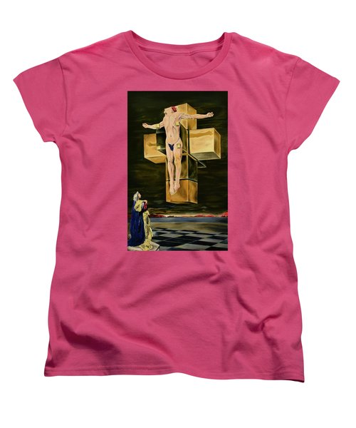 The Father Is Present -after Dali- Women's T-Shirt (Standard Cut) by Ryan Demaree