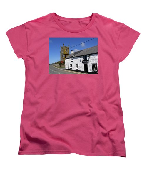 Women's T-Shirt (Standard Cut) featuring the photograph The First And Last Inn In England by Terri Waters
