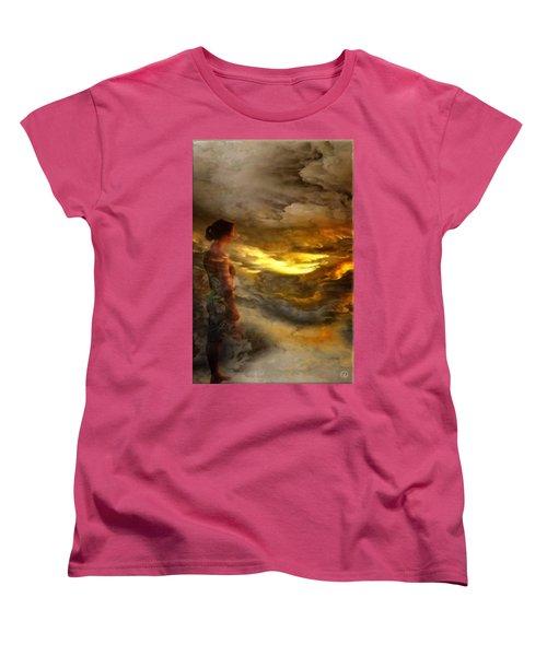 Women's T-Shirt (Standard Cut) featuring the digital art The First Step by Gun Legler