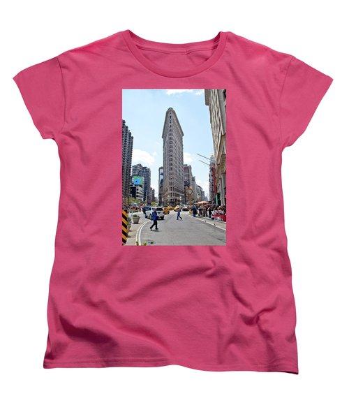 The Flatiron Building Women's T-Shirt (Standard Cut) by Jean Haynes