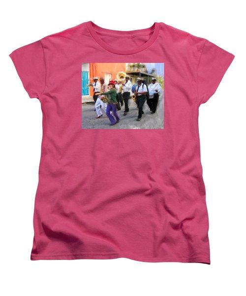 The French Quarter Shuffle Women's T-Shirt (Standard Cut) by Dominic Piperata