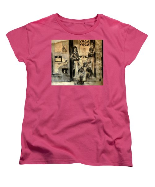 Women's T-Shirt (Standard Cut) featuring the drawing The Gang by Albert Puskaric