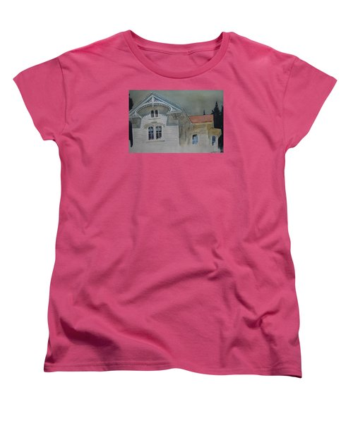 the Ginger Bread House Women's T-Shirt (Standard Cut) by Len Stomski