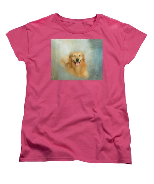 Women's T-Shirt (Standard Cut) featuring the mixed media The Golden by Colleen Taylor