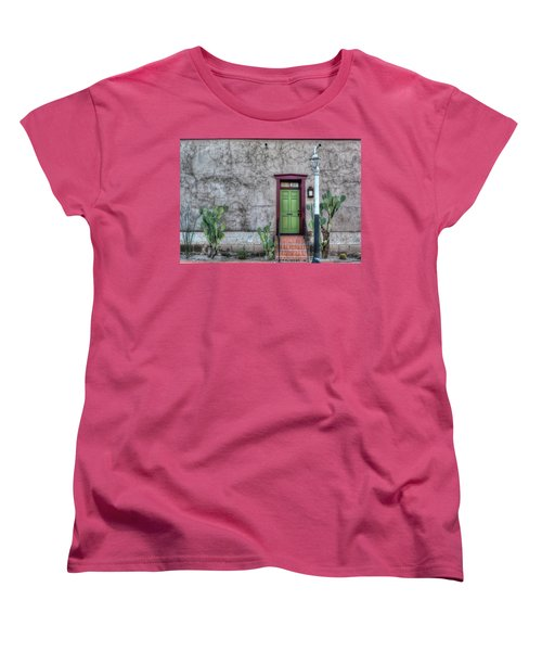 The Green Door Women's T-Shirt (Standard Cut) by Lynn Geoffroy