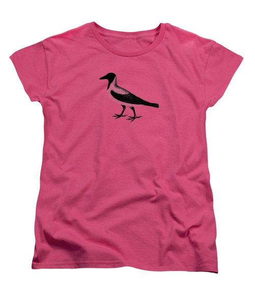 The Hooded Crow Women's T-Shirt (Standard Cut) by Mark Rogan