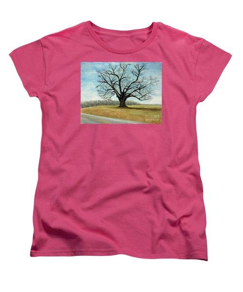 The Keeler Oak Women's T-Shirt (Standard Cut) by Lyric Lucas