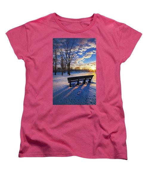 Women's T-Shirt (Standard Cut) featuring the photograph The Light That Beckons by Phil Koch