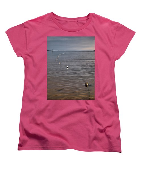 Women's T-Shirt (Standard Cut) featuring the photograph The Line by Jouko Lehto