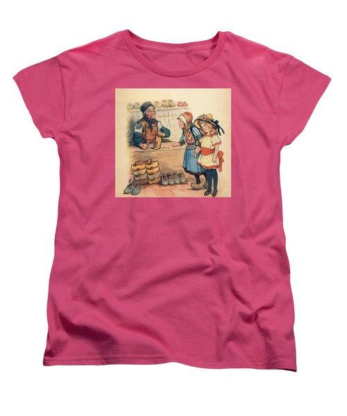 The Little Wooden Shoe Maker Women's T-Shirt (Standard Cut) by Reynold Jay