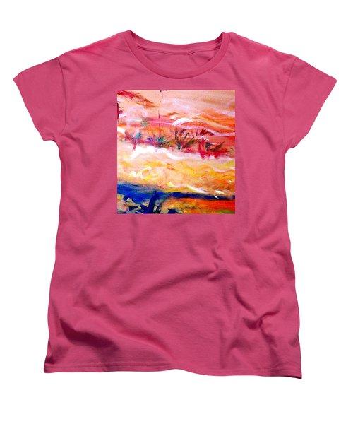 The Living Dunes Women's T-Shirt (Standard Cut) by Winsome Gunning