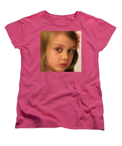 The Look Women's T-Shirt (Standard Cut) by Stephen Flint