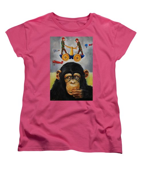 The Magnificent Flying Strauss Women's T-Shirt (Standard Cut) by Jean Cormier