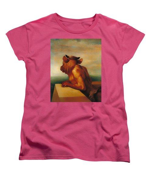 The Minotaur  Women's T-Shirt (Standard Cut) by Mountain Dreams