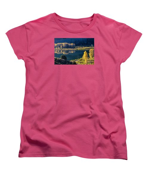 The Mirror In Her Hand Women's T-Shirt (Standard Cut) by Alana Thrower