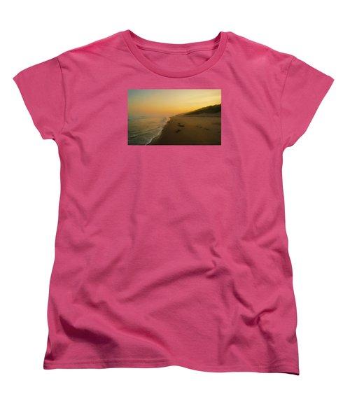 The Morning Walk Women's T-Shirt (Standard Cut) by Roy McPeak