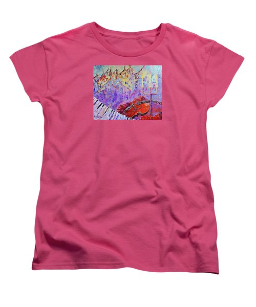 The Music Of The Silence Women's T-Shirt (Standard Cut) by AmaS Art