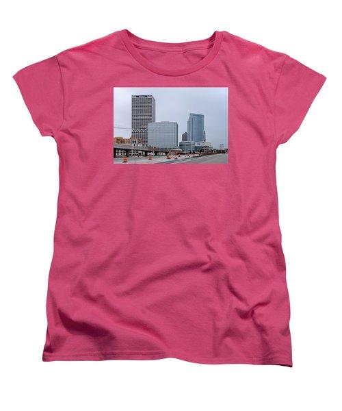 Women's T-Shirt (Standard Cut) featuring the photograph The New Milwaukee Skyline by Randy Scherkenbach