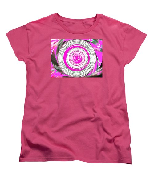 Women's T-Shirt (Standard Cut) featuring the painting The Noise by Catherine Lott