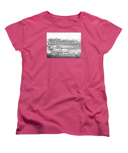 The Old Boat At Peggy's Cove Women's T-Shirt (Standard Cut) by Patricia L Davidson