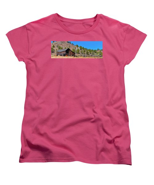 The Old Pine Creek Ranch Barn And Coral Women's T-Shirt (Standard Cut) by Ansel Price