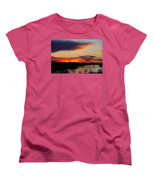 The Other Side Of The Bridge  Women's T-Shirt (Standard Cut) by Yumi Johnson