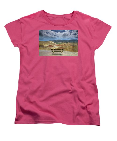 The Overlook At Painted Hills In Oregon Women's T-Shirt (Standard Fit)