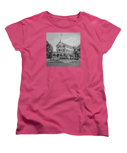 The Parker House Black And White Women's T-Shirt (Standard Cut) by Melinda Saminski