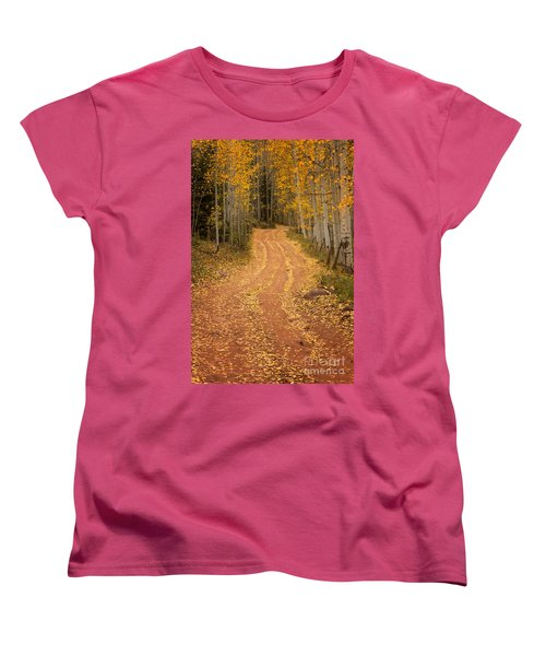 The Pathway To Fall Women's T-Shirt (Standard Cut) by Ronda Kimbrow
