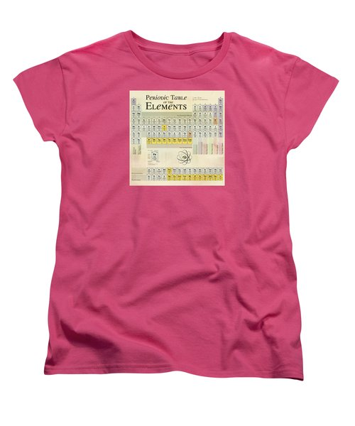 Women's T-Shirt (Standard Cut) featuring the digital art The Periodic Table Of The Elements by Gina Dsgn