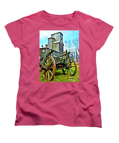 Women's T-Shirt (Standard Cut) featuring the photograph The Pottery - Bennington, Vt by Tom Cameron